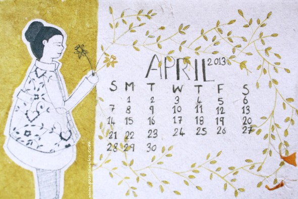 April Calendar pangaweka